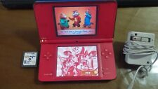 NINTENDO DSI XL SUPER MARIO 25 ANNIVERSARY 2 GAMES & WALL CHARGER SEE PIC'S