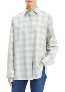 THEORY Shirt Designer Check Shirt Oversized Top Theory size S