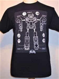 Megazord Schematic MIGHTY MORPHIN POWER RANGERS T-shirt