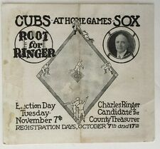 1922 Chicago Cubs and White Sox Home Games Baseball Pocket  Schedule