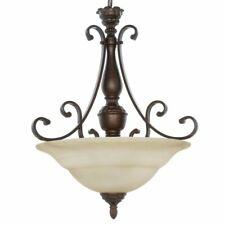 Hampton Bay Carina Collection 3-light Aged Bronze Pendant
