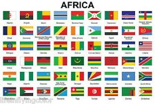 Africa Set of 3x5' Flags 54 Country Lightweight Polyester Flags African NEW