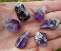 6 x A GRADE AMETHYST 3 x SMALL POINTS & 3 x POLISHED STONES GIFT BAG & ID CARD