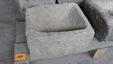 Alter Trog aus Granit 39 cm lang  Steintrog Granittrog G1197 Brunnen Waschbecken