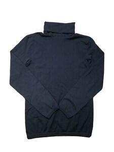 Wolford Women's Medium Black Cotton Velvet Seamless Long Sleeve Turtleneck Top