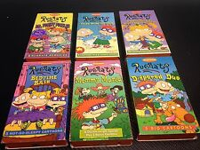 Lot of 6 Rugrats VHS Tapes-Mommy Mania-Bedtime Bash-Diapered Duo *Free Shipping*