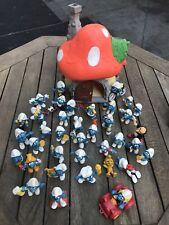 Großes Schlumpfhaus  aus Schlumpfsammlung  Schlümpfe Smurf (K6) 37 Figuren 70er