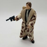 Vintage Star Wars Han Solo Endor Trenchcoat Action Figure Complete All Original