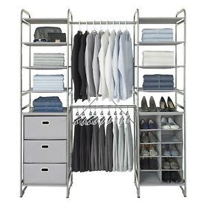 Neatfreak Versa Modular Freestanding Closet Storage Organizer Brand New COLLEGE