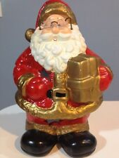 ☀️ Vintage Santa Claus Figure Votive Candle Holder Ceramic Christmas Decoration