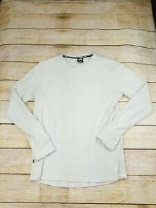 Nike SB Mens Medium Shirt Long Sleeve Thermal Crew Neck White Skateboard 800964
