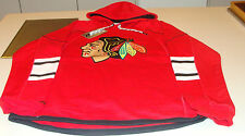 NHL Hockey Reebok Edge Team Jersey Hoodie Hoody Sweatshirt Chicago Blackhawks M