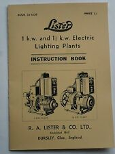 Lister 1Kw & 1.1/2Kw Electric Lighting Plants