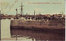 France Les Sables-d'Olonne - Entree du Port 1906 cover mailed postcard