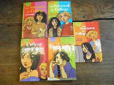 Les sorcières du collège tomes 1 ,2,3 + 2 livres  les romans de Julie