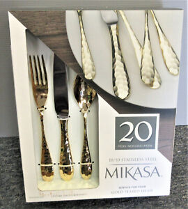 Mikasa Gold Plated Lilah 20-pc Flatware Set, Service for 4