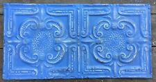Vintage Ceiling Tin for crafts ptach work home decor blue distressed
