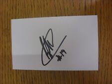 """2013/2014 Blackpool: Fuller, Ricardo [3""""] 5""""x Tarjeta Autografiada Blanco. condición:"""