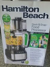Hamilton Beach 70725A 12 Cups Stack and Snap Food Processor