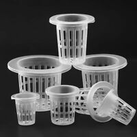 Hydroponic Colonization Mesh Pot Net Cup Basket Aeroponic Planting Grow Clone