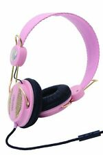 CUFFIA DJ WESC OBOE ROSA ORO NOVITA' + MICRO per iPhone iPad iPod Mp3 Usb Player