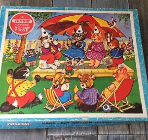 Vintage VICTORY Childrens' Wooden Nursery Jigsaw Puzzle