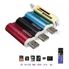 Nuevo Todo En 1 USB 2.0 Lector De Tarjetas Memoria Micro SD / TF M2 MMC MS