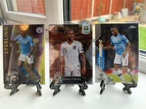 Raheem Sterling Base Card Lot (chrome/select/platinum) Man City England