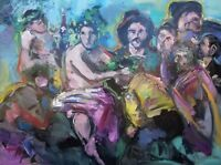 JOSE TRUJILLO - (HUGE ART) Triumph Of Bacchus Oil Painting Expressionist Figures