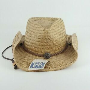 Toby Keith Country and Western Straw Cowboy Hat Adjustable Brim Size L/XL