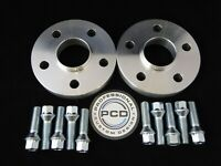 15mm VW AUDI 5x100 Hubcentric Wheel Spacers, 57.1 bore 10x TAPERED Bolts UK Made