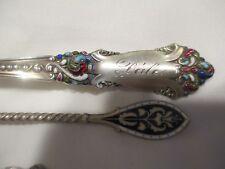 Enameled Victorian Sterling Silver Spoons Dale Elana Clara