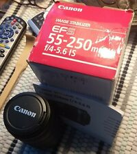 Canon EFS 55-250mm f/4-5.6 IS Zoom Lense w/ Box - Never Used