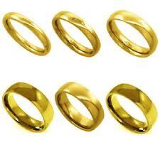 Neues Angebot3mm Um 8mm Herren / Damen Edelstahl Gelb Vergoldet Gewölbter Ehering