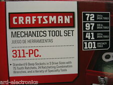 Craftsman 311 pc Mechanics Tool Set Sae/Metric Ratcheting Combo Wrenches 334 309