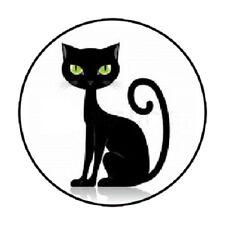 "48 Black Cat #2 !!!  ENVELOPE SEALS LABELS STICKERS 1.2"" ROUND"