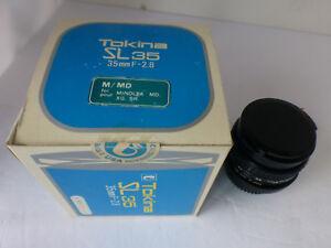 tokina sl35 35mm camera lens f-2.8 m/md miolta md, xg,sr
