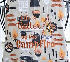 Apron Grilling Cookout Life Is Better By The Campfire 100% Cotton