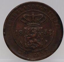 Nederlands Indie - NETHERLANDS EAST INDIES 2 1/2  CENT 1858 - KM# 308