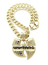 """WU-TANG PENDANT WITH 20"""" 11mm CUBAN CHAIN"""
