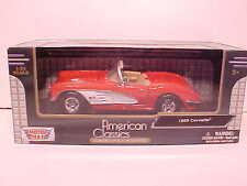 1959 Chevy Corvette Convertible Die-cast Car 1:24 Motormax 7 inch Red