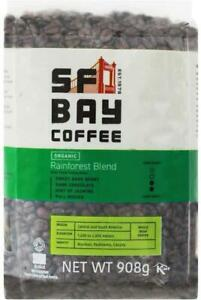 San Francisco Bay Whole Bean Coffee Organic Rainforest Blend 908g Home Office