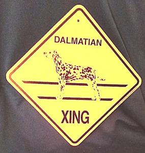 Dalmatian Xing Dog Sign