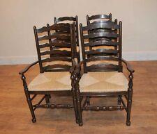 8 Solid Oak Pad Foot Ladderback Kitchen Chairs