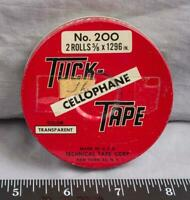 Vintage Tuck Cellophane Tape Metal Tin jds