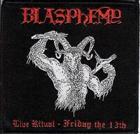 Blasphemy- Live Ritual 2 Patch Behemoth Rotting Christ Black Death Metal Revenge