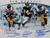 Joiner/ Fouts/ Winslow Signed Chargers Air Coryell 8x10 Photo W/HOF- JSA W Auth