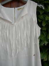 robe blanche fluide 38 a franges