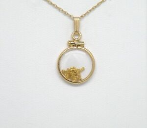 Genuine natural gold nuggets in 12k yellow gold filled small Pendant New