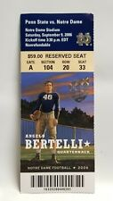 Notre Dame Irish Penn State 2006 Football Ticket Stub Angelo Bertelli Heisman